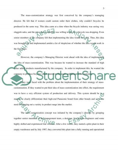 National Bicycle Industrial Company essay example