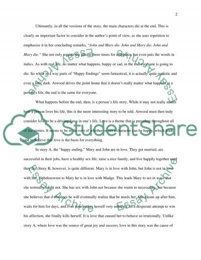 Margaret Atwoods Happy Endings essay example