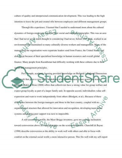 INTERNSHIP PORTFOLIO essay example