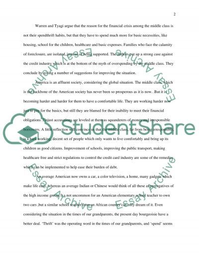 American Middle Class essay example