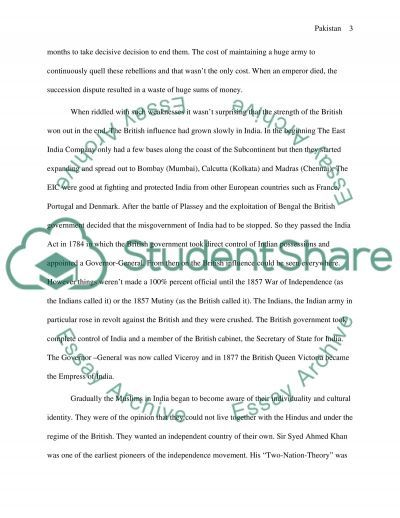 Cultural Perspectives from another Country - Pakistan essay example