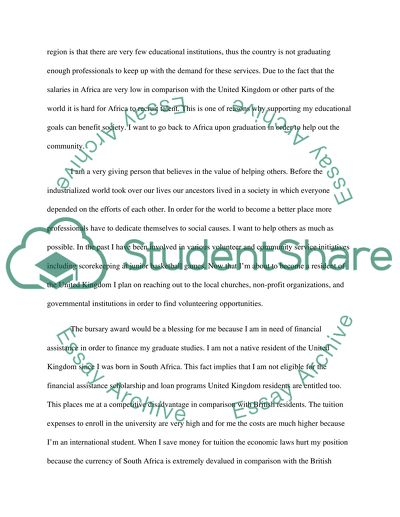 bursary motivation letter scholarship essay example