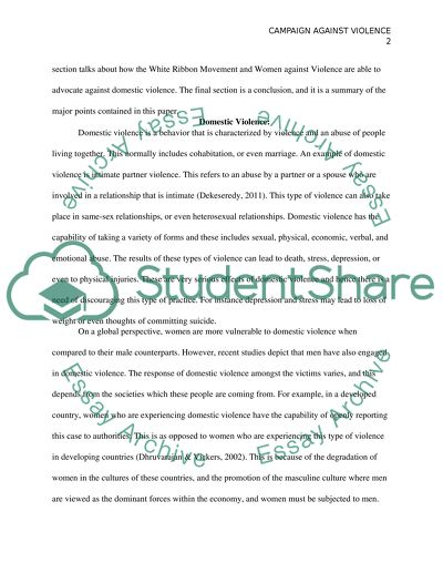 essay against violence