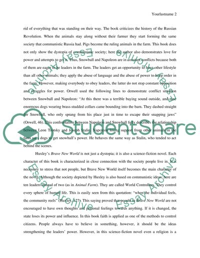 A Comparative Essay On Brave New World By Aldous Huxley And Animal A Comparative Essay On Brave New World By Aldous Huxley And Animal Farm By George  Orwell Essay Writing Topics For High School Students also Essay About Healthy Eating Essay On Religion And Science