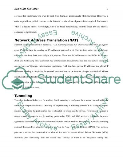 Network Security essay example