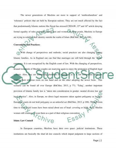Islam in Europe essay example