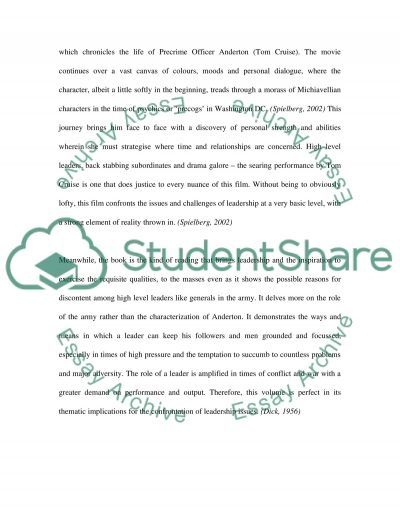 Leadership and Army essay example