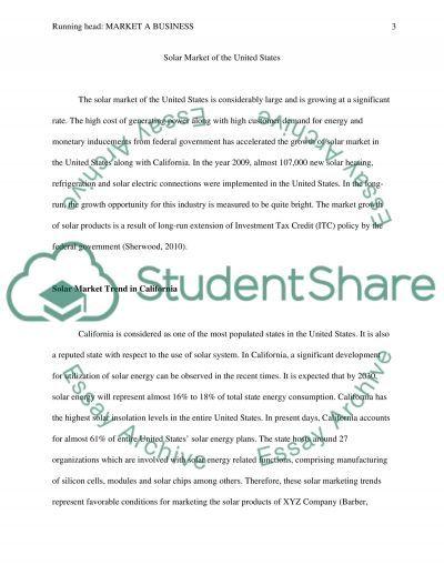 Essay on Solar market essay example