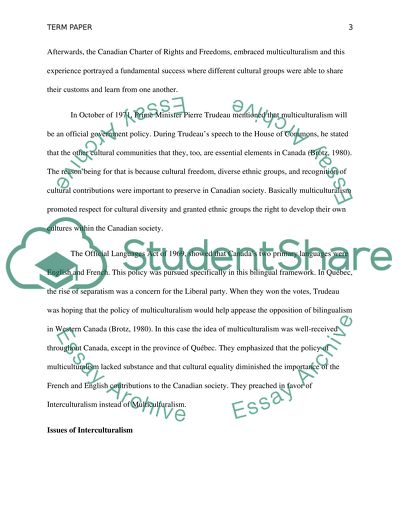 disadvantages of multiculturalism in canada essay More about essay on multiculturalism in canada essay about the aspects of multiculturalism in canada essay about the advantages and disadvantages of multiculturalism.