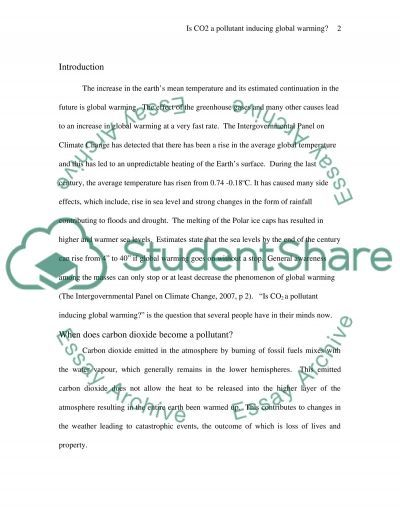 Global - Warming essay essay example