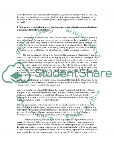 Organisational Design & the Transformation of Work essay example