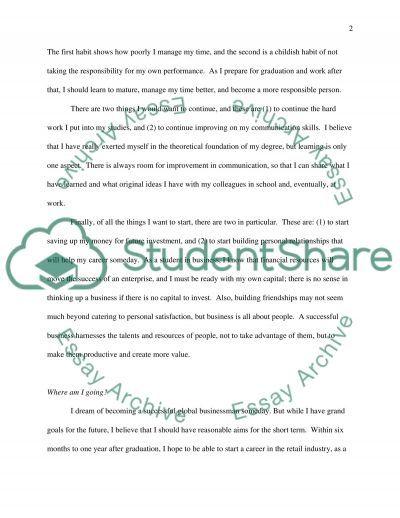 Personal Development Plan Personal Statement