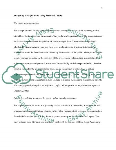 Financial Reporting and Analysis for Decision Making essay example