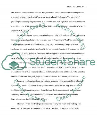 Socially Desirable Merit Goods essay example