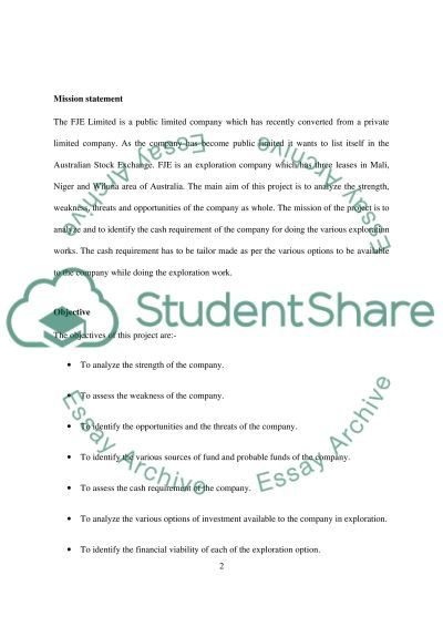 The opportunities and the threats of the FJE Limited essay example