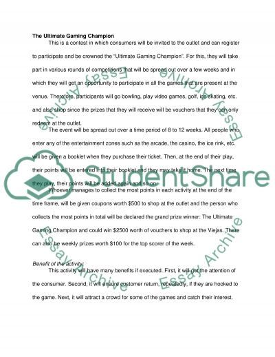 event ads and sales promotion for viejas Essay example