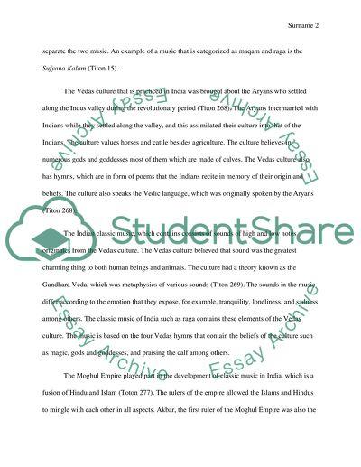 Raga Music Essay Example | Topics and Well Written Essays