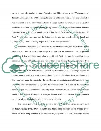Car Advertising essay example
