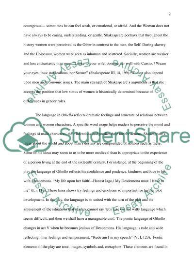 William Shakespeare Othello essay example