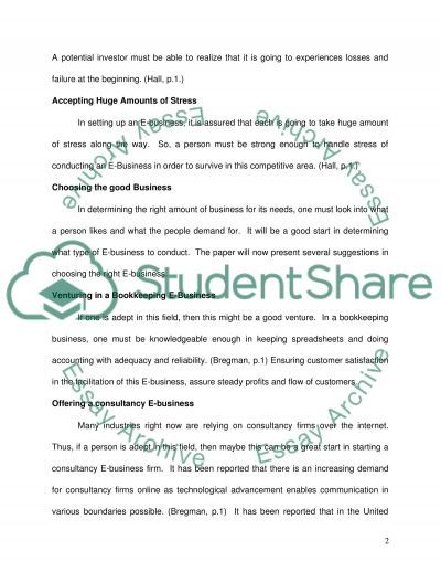 Anatomy of an e-business essay example