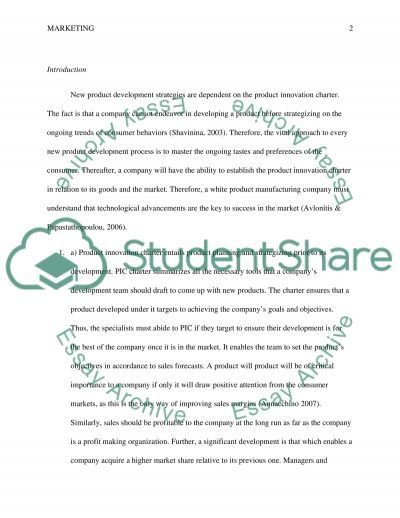 New product development and product innovation charter essay example