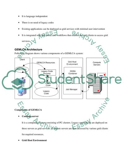 Grid Computing Master Essay