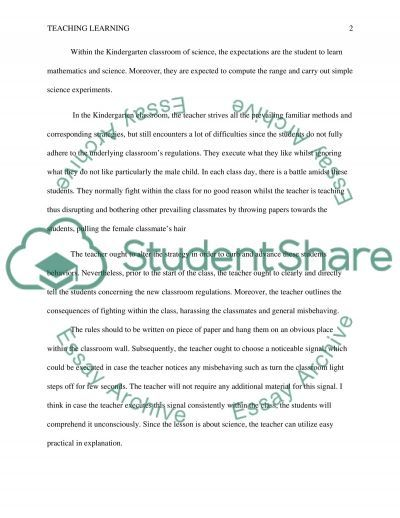 Teaching learning essay example
