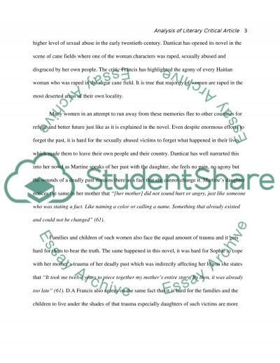 breath eyes memory essay example topics and well written essays  breath eyes memory essay example text preview