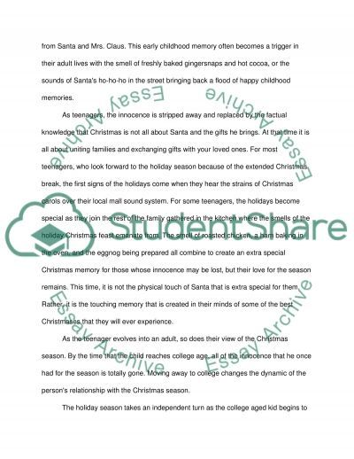 Christmas Admission Essay example