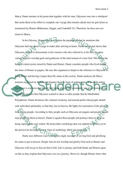 complementing texts homers the odyssey and dantes inferno essay Essay writing help  hire a writer get paper rewritten editing service lovely extras  hide a paper option donate paper free essay topics free q&a free gpa free.