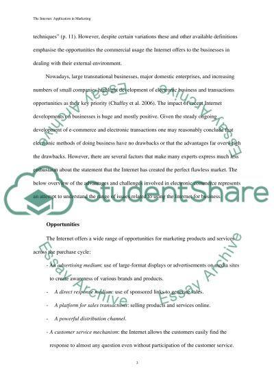 E-marketing Essay essay example