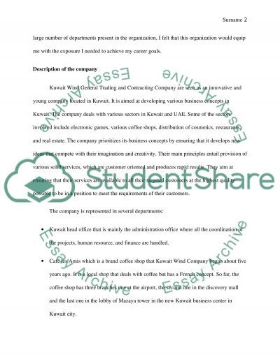 Accounting Internship Report Essay Example  Topics And Well Written