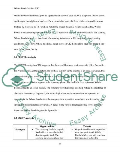 Marketing Plan for a new Organic goods company Assignment example