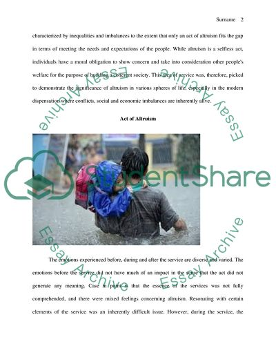 Altruism Project