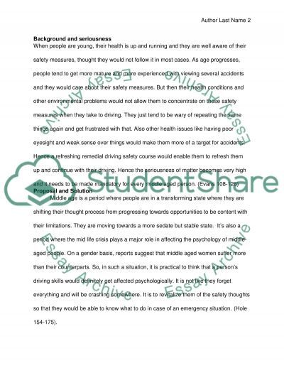 Driving Safety among Middle-Aged Drivers Essay example