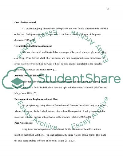 reflection on team working experience essay example topics and  reflection on team working experience essay example