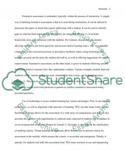 Software to support assessment essay example