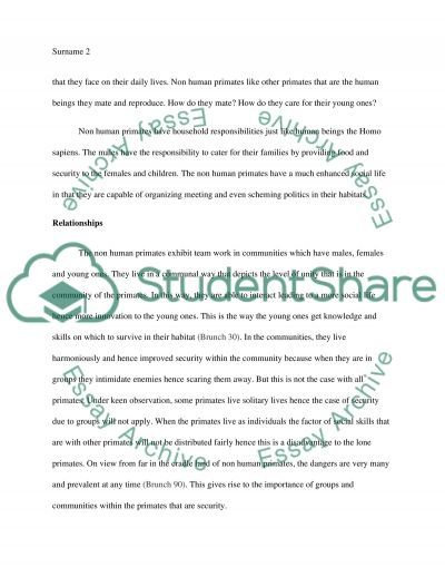 scientific method and primate observation essay scientific method and primate observation essay example