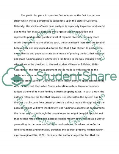Critical Article Review essay example