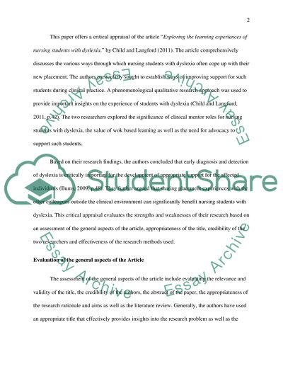 Thesis Statement Narrative Essay Research Critique Question Child J And Langford E  Exploring The  Learning Experiences Essay Science also Sample English Essay Research Critique Question Child J And Langford E  Exploring  Dallas Business Plan Writer