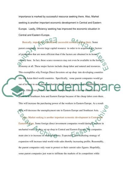 Globalisation, Transnationals and Economic Policy essay example
