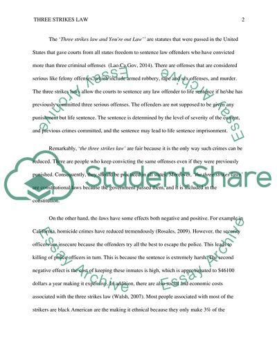 essay on three strikes