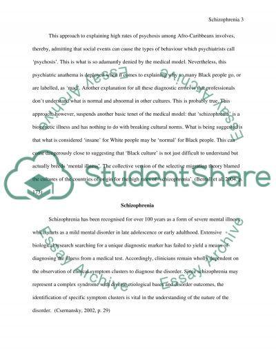 Mental Illness essay example