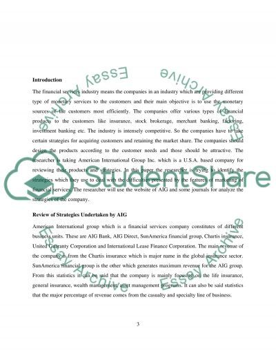 Review of Strategies Undertaken by AIG essay example
