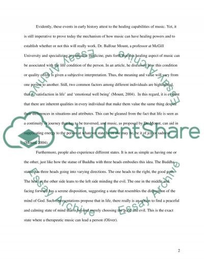 The Healing Power of Music essay example