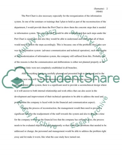 Case study information system in management essay example