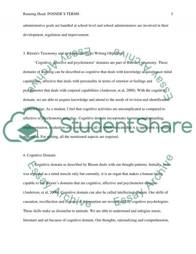 Posner Terms 2 essay example