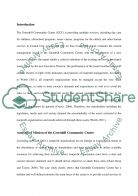 Green Hill Community Center Case Study Case Study example