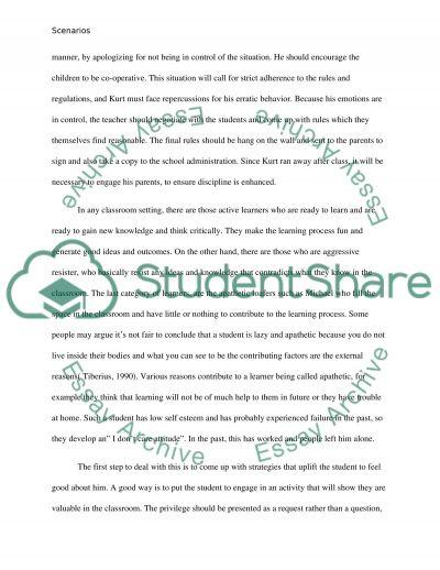 Scenarios essay example