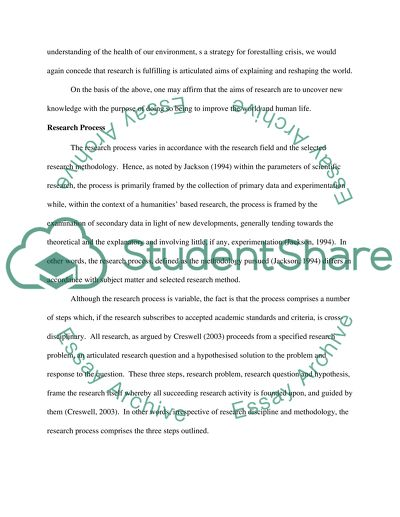 Research Projects Essay
